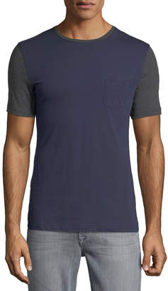 Slate & Stone Men's Colorblocked Short-Sleeve Crewneck Pocket Tee