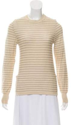 Burberry Striped Cashmere Top