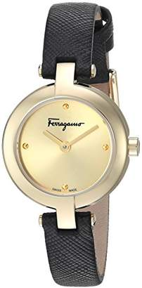 Salvatore Ferragamo Women's 'Ferragamo Miniature' Swiss Quartz Stainless Steel and Leather Casual Watch