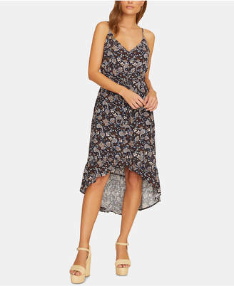 Sanctuary Palm Spring Printed Button-Front Sleeveless Dress