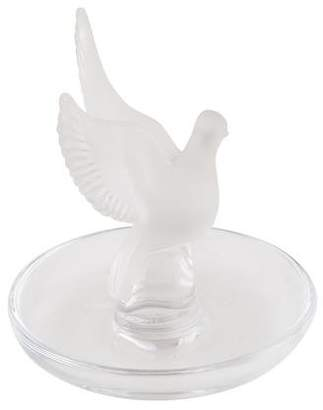 Lalique Crystal Dove Ring Dish