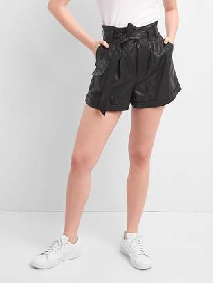 "Gap High Rise 3"" Paper Leather Short"