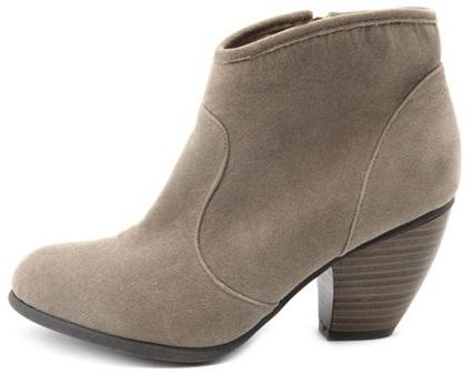Charlotte Russe Low-Heel Sueded Western Boot