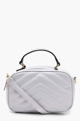 boohoo Emma Quilted Handle Cross Body