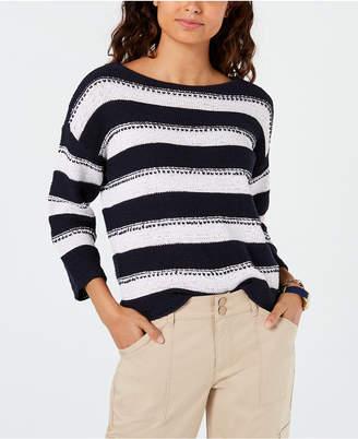 Tommy Hilfiger Striped Drop-Shoulder Sweater