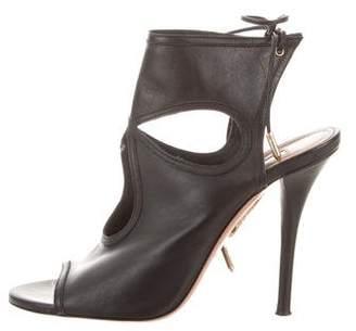 Aquazzura Leather Tie-Up Sandals