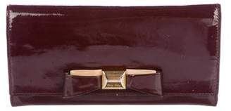 Miu Miu Patent Leather Bow Wallet