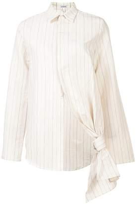 Loewe knot detail striped shirt
