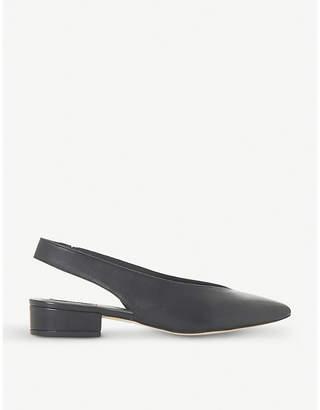 Dune Black Chiara - v cut slingback low block heel