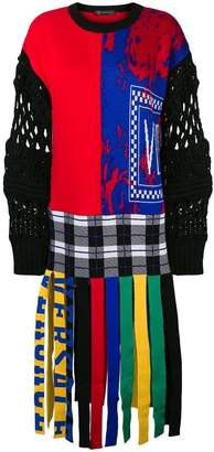 Versace knitted colour block dress