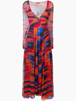 Missoni colour-block flared dress