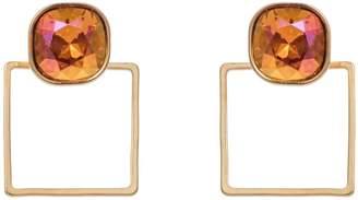 Nadia Minkoff - Square Frame Earring Tangerine