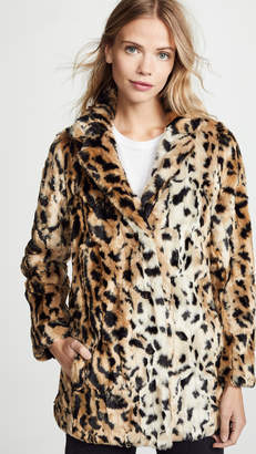 Velvet Juliana Faux Fur Leopard Coat