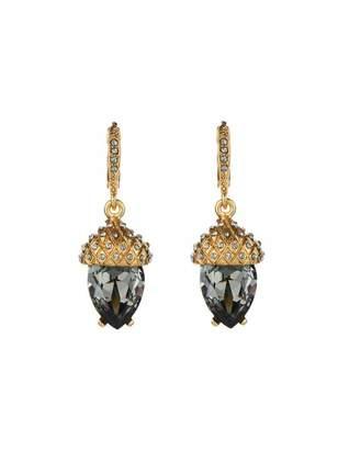 Oscar de la Renta Pave Acorn Drop Earrings