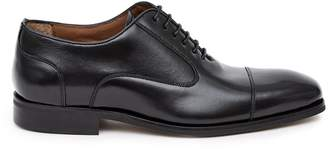 Reiss RESTON LEATHER OXFORD TOE CAP SHOES Black