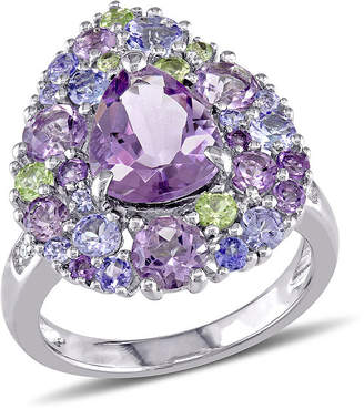 FINE JEWELRY Genuine Amethyst, Peridot and Tanzanite Ring