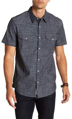 Lucky Brand Short Sleeve Western Chambray Shirt