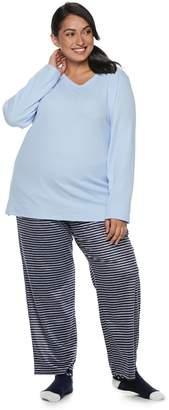 Croft & Barrow Plus Size Fleece 3-piece Pajama Set