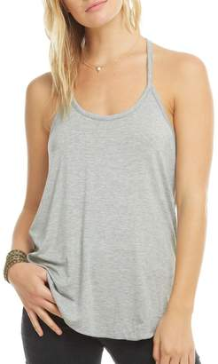 Chaser Cool Jersey Ruffle T-Back Shirttail Cami