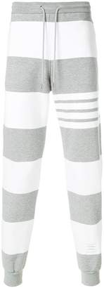 Thom Browne Engineered Rugby Stripe Classic Loopback Jersey Sweatpants