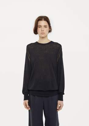 La Garçonne Moderne Elle Crewneck Sweater Navy Melange