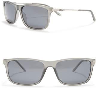 Timberland 58mm Square Polarized Sunglasses