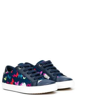 Geox butterfly print sneakers