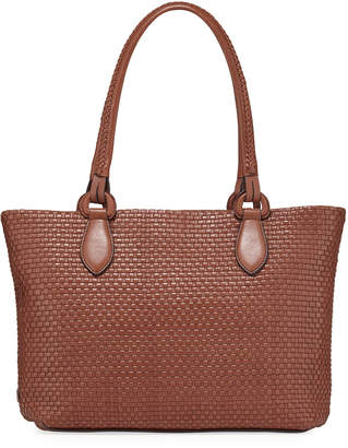 Cole Haan Bethany Large Woven Leather Tote Bag