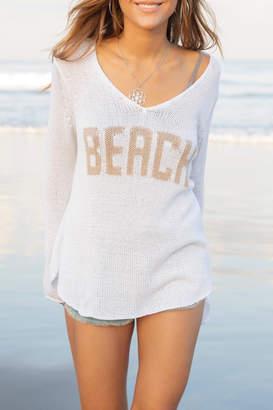 Wooden Ships Beach V-Neck Sweater