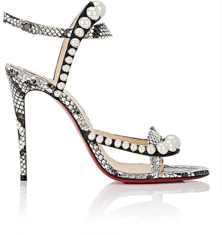 Christian Louboutin Women's Galeria Leather & Snakeskin Sandals