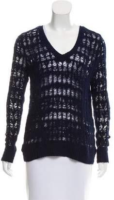 Rag & Bone Open Knit V-Neck Sweater