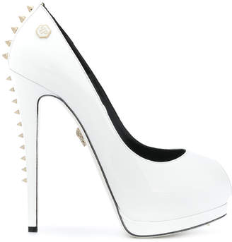 Philipp Plein studded peep toe pumps