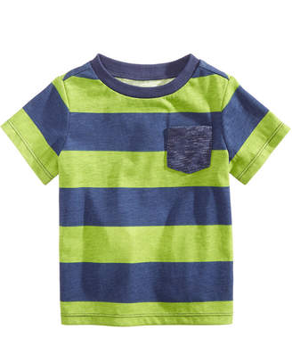 First Impressions Baby Boys Striped Pocket T-Shirt, Created for Macy's