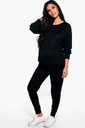 boohoo Maternity Lounge Sweat & Jogger Set