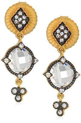 Freida Rothman Womens Signature Mirror Stone Drop Earrings