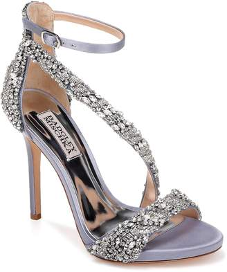 Badgley Mischka Venice Crystal Embellished Strappy Sandal