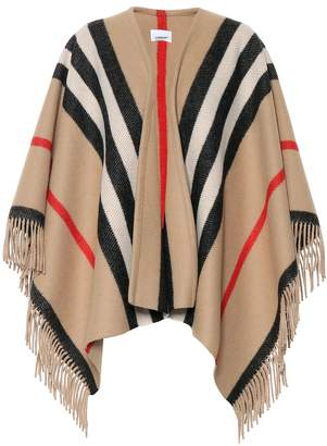 Burberry Striped wool poncho