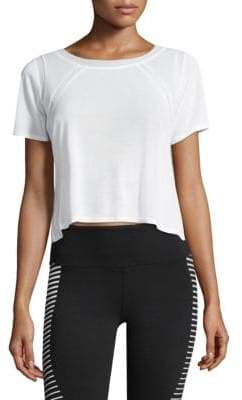 Alo Yoga Cropped Two Tone Tee