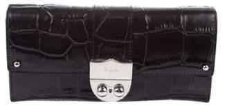 Lauren Ralph Lauren Embossed Acadian Slim Envelope Wallet