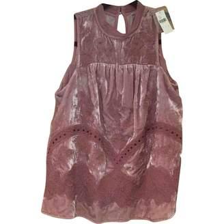 Anthropologie Purple Velvet Top for Women