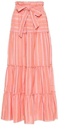 Lemlem Taytu cotton-blend maxi skirt
