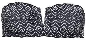 Eberjey Jolie Ruffle-trimmed Printed Bandeau Bikini Top