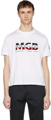 Moncler Gamme Bleu White Logo T-Shirt