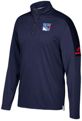 adidas Men's New York Rangers Authentic Pro Quarter-Zip Pullover
