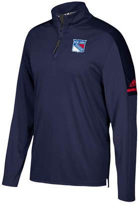 adidas Men New York Rangers Authentic Pro Quarter-Zip Pullover