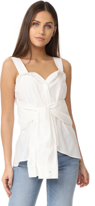 Derek Lam 10 Crosby Tie Front Sleeveless Top $325 thestylecure.com