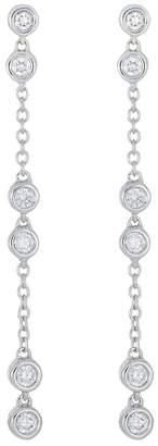 Bony Levy 18K White Gold Diamond Station Drop Earrings - 0.26 ctw
