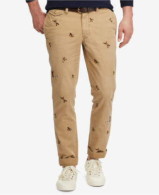 Polo Ralph Lauren Men's Slim-Fit Embroidered Duck Chino Pants $98.50 thestylecure.com