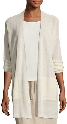 Eileen Fisher Fine Stretch-Linen Crepe Long Cardigan $278 thestylecure.com