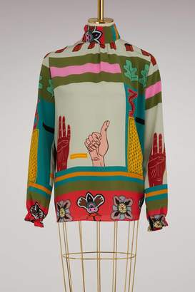Valentino Counting 5 silk blouse